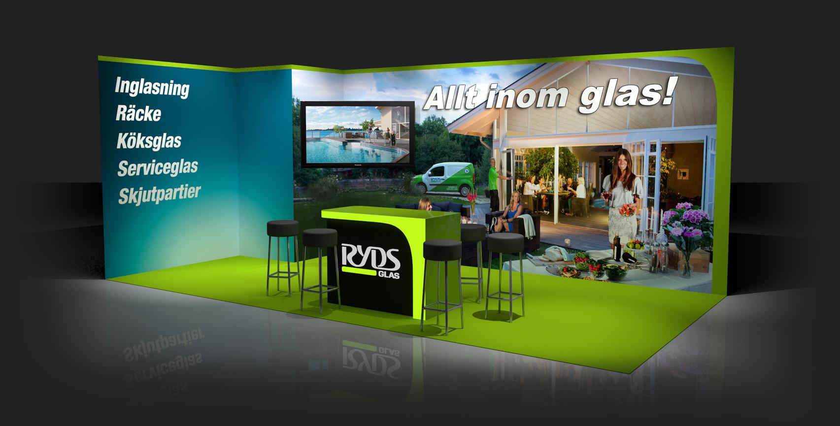 Ryds Glas 3D Monter