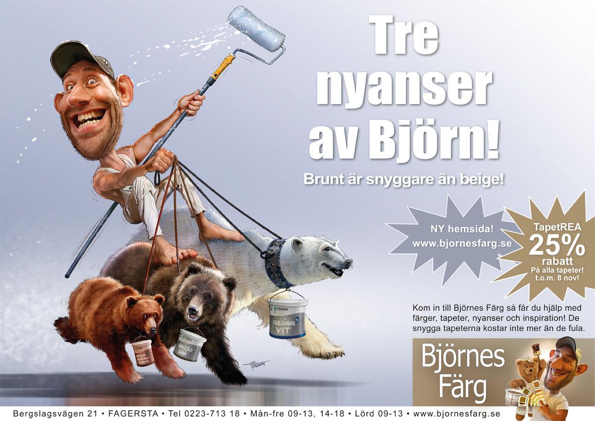 Björnes Färg Tre nyanser av Björn!