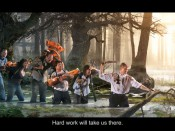 ABB Hard work will take us there illustration