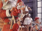 Julkort Ericsson Painting illustration