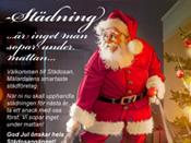 Städosan Julkort Målad illustration