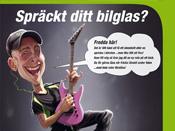Ryds Bilglas Fredrik Karikatyr illustration
