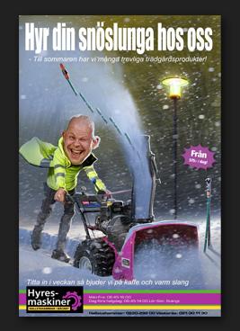 Hyresmaskiner Hyr din snöslunga hos oss