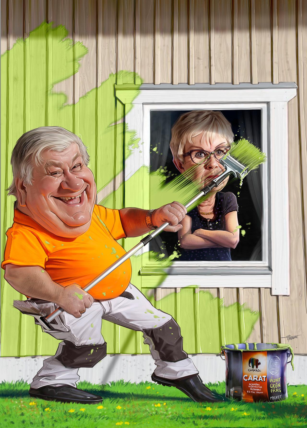Färgbolaget Illustration Ute Annonskampanj