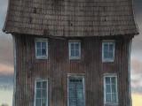 Kungsbyn Teater dekor illustration mörkt hus