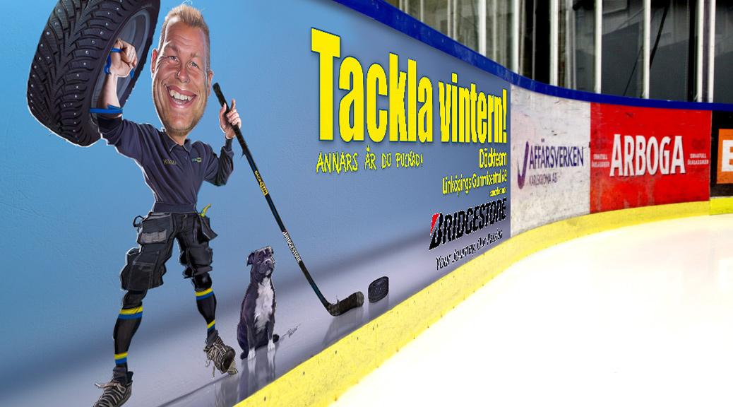 Däckteam Hockeysarg illustration