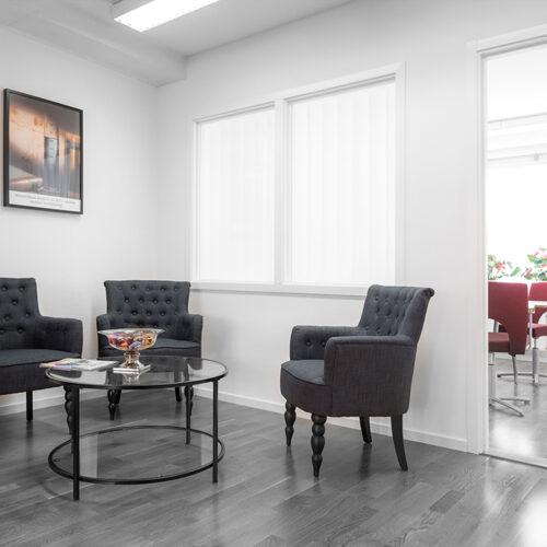 Foto på interiör, entré, skapad av Laj Illustration