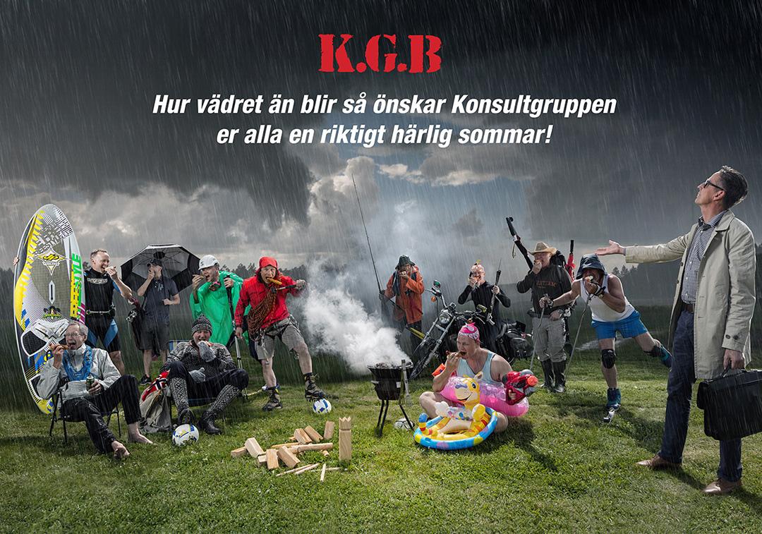 Sommarhälsning från Konsultgruppen i Bergslagen - skapad på Laj illustration.