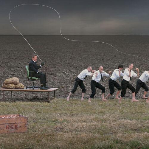 Fotomontage till Konsultgruppen, om att jobba hos dem. Skapad på Laj illustration