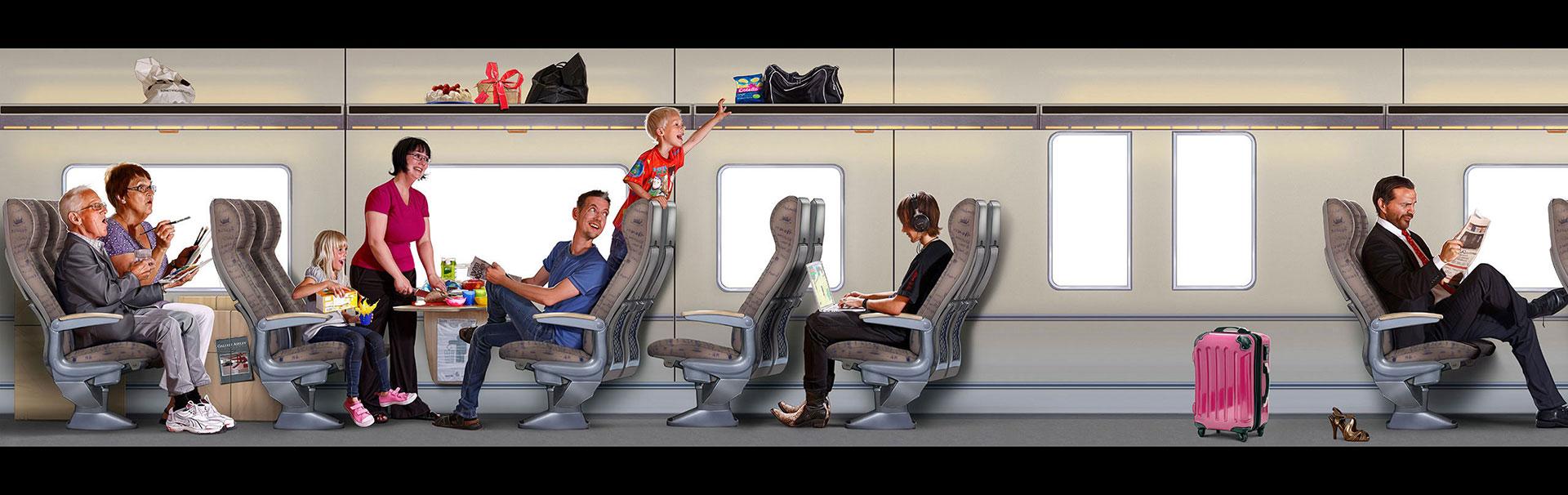 Tågdekor till Tåg i Bergslagen -del 1. Skapad på Laj illustration