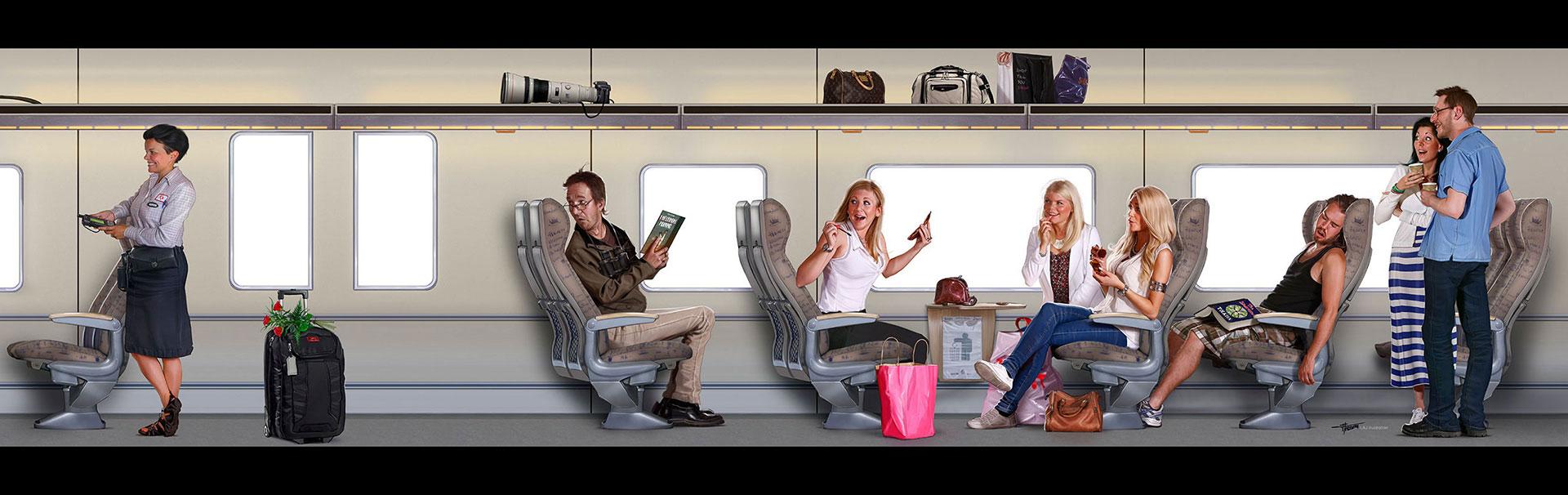 Tågdekor till Tåg i Bergslagen -del 3. Skapad på Laj illustration