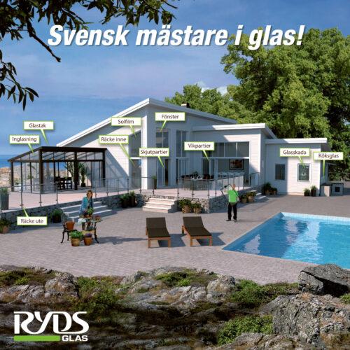 Illustrativ visualisering till Ryds Glas om deras tjänster.