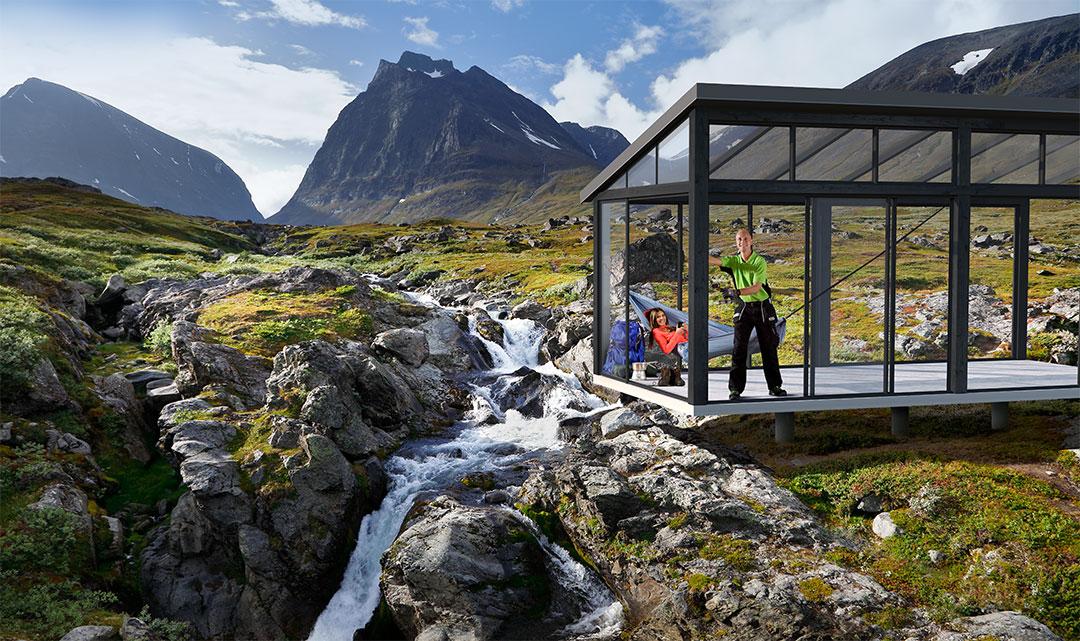 Visualisering, uterum vid Kebnekaise i norrland.