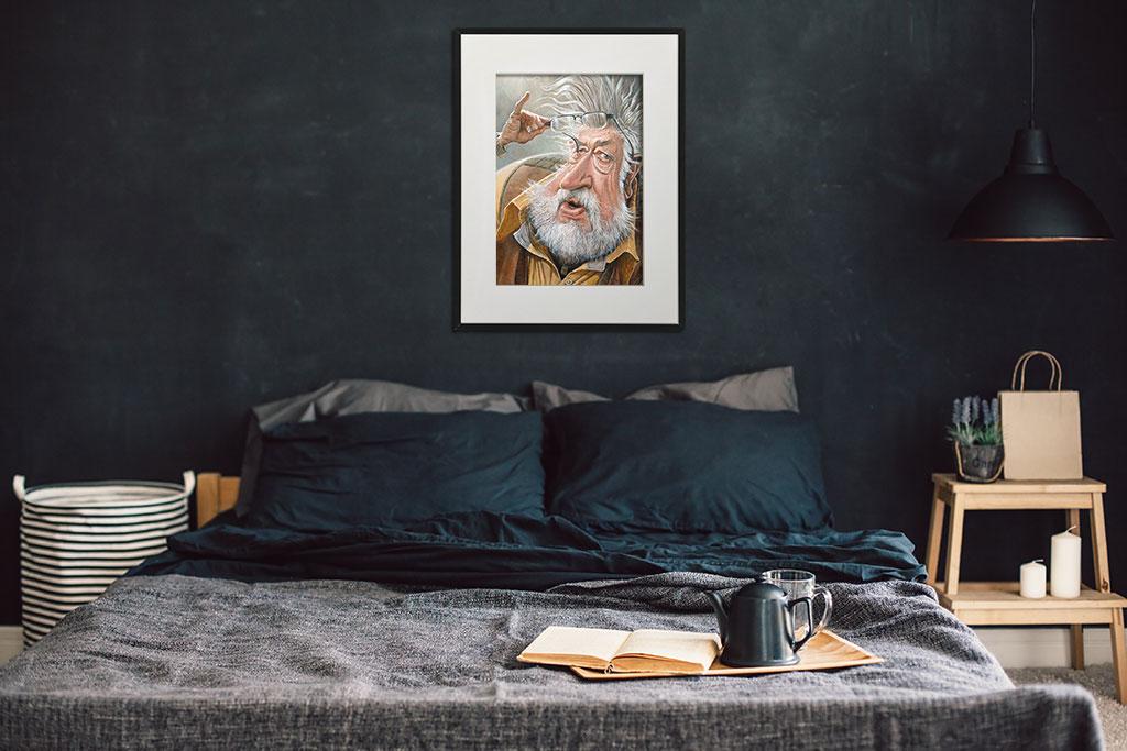 Tavla på picturethat.se som visar Leif GW - en målning av Lars Ahlberg.